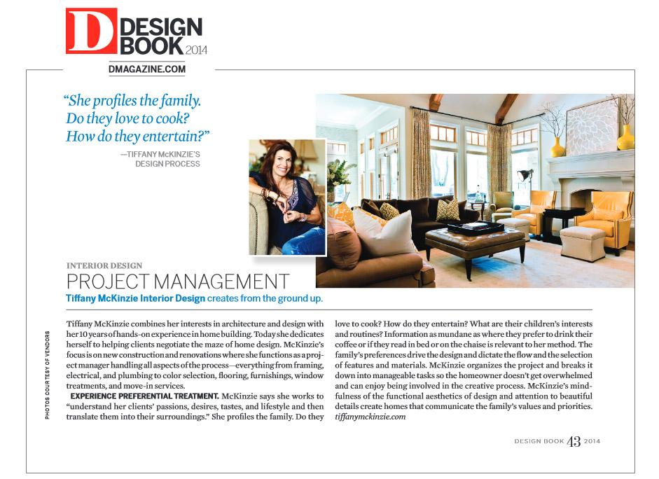 PRESS - Tiffany McKinzie - Dallas Interior Designer